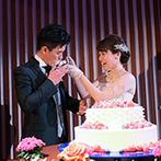 浦安ブライトンホテル東京ベイ:開放感あふれるホテルの披露宴会場で王道のウエディング。メッセージ&写真のおもてなしで温かみをプラス