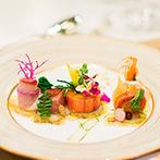 ホテルニューオータニ大阪:ゲストへの感謝を美食で表現する、おもてなしのウエディング。想いに寄り添ったメニューのアレンジにも対応