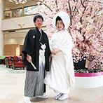 ANAクラウンプラザホテル成田:地元で有名な上質ホテルで、少人数の温かな結婚式。「和」にこだわった、ふたりらしい一日を叶えることに