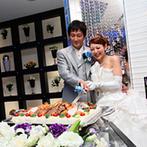 ザ・ウィングス海老名:クリスタルの輝きでパーティが華やかに!オリジナルのライスケーキでインパクト大の入刀&ファーストバイト