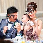 ベルヴィ宇都宮:子どもが生まれてからの準備スタートでも、プランナーがしっかりサポート。衣裳選びも常に笑顔で楽しめた