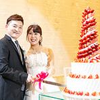 ベルヴィ宇都宮:イチゴたっぷりのタワーケーキで『初の共同作業』。衣裳色当てクイズやデザートビュッフェにも遊び心が満載