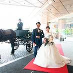 ウェスティンホテル東京:憧れのホースパレードを体験したい。上質感あふれるホテルは結婚式後に思い出が作れることも魅力だった