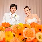 コートヤード・マリオット 銀座東武ホテル:季節にあわせてハロウィンかぼちゃのオレンジ色でコーディネート。多彩な演出も美食も堪能してもらえた