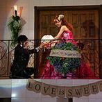 マリエール ガーデン バーベナ (Marriyell Garden Verbena):オリジナルのジャイアントフラワーを手に新郎から2度目のプロポーズ!豊富な演出で笑顔のたえない披露宴に