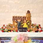 マリアージュ下関:ふたりらしさを取り入れたケーキのデザインとファーストバイト。彩りも鮮やかな美食がゲストの間で話題に
