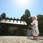 神宮会館:子どもの頃に憧れた、宮崎神宮での神前式。1組貸切の会場は移動のしやすさ、安心感のあるスタッフも魅力