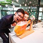 ザ・ヒルサイド神戸:生ハムカット&フランスパンでのファーストバイトがゲストの注目の的!美味しい料理やスイーツでおもてなし