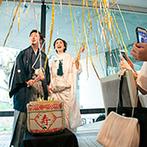 ザ・ヒルサイド神戸:洗練された空間にドレスも和装もマッチ。ゲストへのサプライズも取り入れて、笑顔が絶えない一日を過ごせた