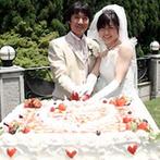 SHOZAN RESORT KYOTO(しょうざんリゾート京都):触れ合いを大切にしたふたりは、ガーデンでデザートビュッフェ。目の前に現れた大パノラマはひとつの演出に