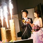 アークリッシュ豊橋:華やかな手筒花火でゲストから驚きの声が。友人のダンスやピアノの生演奏でふたりもゲストもテンションUP!