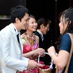 HANA CLUB 華王殿:赤ちゃんと一緒の打ち合わせも結婚式も全員で祝福。挙式の案もたくさん出してくれて素敵なサプライズが実現