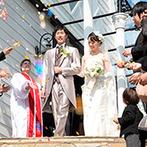 華王殿:チャペルに響き渡る美しいハーモニーはゲストも大絶賛!キッズゲストの活躍で和やかな誓いのシーンに