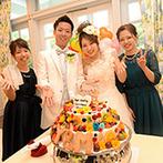 華王殿:自然体の笑顔が広がる、アットホームなパーティ。友人がデコレーションしてくれたケーキも感動の出来栄え