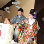 美翔苑 -Bisyoen-:ゲスト全員に感謝を伝えるメッセージキャンドルや、和ならではの演出を実施。和洋の雰囲気を楽しむひと時に