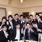 ホテルモントレ仙台:司会は友人が務め、ふたりもリラックス。中座のエスコート役をサプライズで指名するなど、ゲスト参加型に