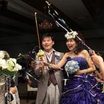 スギノイ ホテル&リゾート(SUGINOI Hotel&Resort):家族やゲスト、お互いへの心温まるサプライズが詰まった一日。予想外のクラッカーの祝福に、笑顔がはじけた