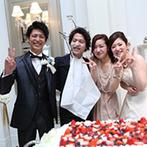 アーヴェリール迎賓館 岡山:「ありがとう」の気持ちを込めたケーキバイトも!ゲストとの触れ合いも楽しみ、幸せなひと時を楽しんだ
