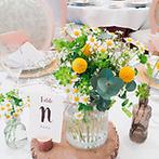 アートグレイス ウエディングフォレスト:理想をかなえるため、実際の花器を使って何度も打合せ。衣裳の取り寄せやメールの細かなやりとりにも感謝