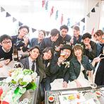 箱根の森高原教会・ホテルグリーンプラザ箱根:とことんカジュアルに過ごしたい。ガーデンや富士山を望むパーティ会場を自由に飾り、理想の空間を叶えた