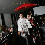 桜鶴苑(おうかくえん):サプライズを盛り込んで、ゲストを飽きさせないパーティに。新郎と新婦の互いを思いあう気持ちにも感動
