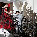 京都 アートグレイス ウエディングヒルズ:部活仲間の楽しいダンス、ガーデンでのデザートビュッフェ、階段&ガーデンを使った再入場など盛りだくさん