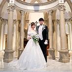 Wedding of Legend GLASTONIA(グラストニア):英国スタイルの荘厳なチャペルの佇まいに感動!会場に漂う格調高い雰囲気やスタッフの対応の良さも決め手に