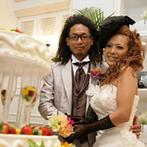 ベイサイド迎賓館 静岡:装花やコーディネート、衣裳もリゾートのセレブのように。ケーキ入刀やお肉の入刀もサプライズ感いっぱい!