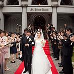 南蔵王・聖ペトロ教会(アニバーサリーガーデン フェアリーコート):派手な演出よりも、美味しい料理と参加型の演出でゲストと楽しみたい。そんな思いを込めた少人数の結婚式