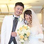 ホテル メルパルクOKAYAMA:世界で一着のオーダードレスは、二次会でも心地よくフィット。当日は笑顔でゆっくり歩くことを意識して