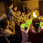 ホテル メルパルクOKAYAMA:キャンドルやバルーンの演出など、ゲスト参加型の演出がたくさん!みんなで笑って感動したパーティ
