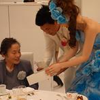 CIER ET MER & I STYLE(シェル エ メール&アイ スタイル):衣裳スタッフをはじめプランナーも一緒にドレス選びをお手伝い。サービススタッフの接客は両親が大絶賛!