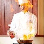 星野リゾート 軽井沢ホテルブレストンコート:味や彩り、香りなど、五感で楽しめる絶品料理。ボリューム満点のおもてなしが、ゲストの笑顔を誘った