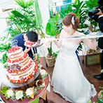 ララシャンス 迎賓館●伊万里迎賓館:名字の『森』にちなんだ【Natural Green Resort Wedding】がテーマ。新郎へのサプライズも自然な流れで