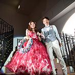 ララシャンス 迎賓館(伊万里迎賓館):プール、ガーデン、大階段と多彩な入場シーンを満喫。ゲストとの触れあいも、ひと工夫した演出でにぎやかに