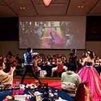 ノートルダム広島 Notre Dame HIROSHIMA:「何かある」と思わせる、会場中央のレッドカーペットの予感が的中!華やかなダンスシーンで魅せたパーティ
