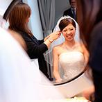 グリーンキャメロット リバーサイド:好みにぴったりの演出を提案してくれたプランナーや、理想の花嫁姿を叶えてくれたヘアメイクスタッフに感謝