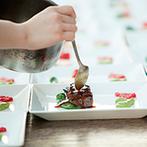 アマンダンテラス(AMANDAN TERRACE):彩り豊かで深い味わいの和食フレンチ。ガーデンでのグリルや鯛をさばく演出で【全員の記憶に残る料理】に