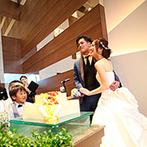 L,ARRIVO(エル・アリーヴォ):大人のスタイリッシュモダンが薫る上質なパーティ。おしゃれなコーディネートやウエディングケーキが好評