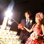 アール ベル アンジェ 仙台:ゲストと一緒に火を灯したキャンドルタワー。「みんなの思い出に残る披露宴がテーマだったので大満足です」