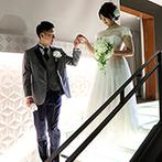 ホテルモントレエーデルホフ札幌:美しい光の演出がシーンを彩るパーティ会場。ウエルカムパーティや各卓フォトでゲストとのふれあいも満喫