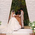 HOTEL HANSHIN OSAKA(ホテル阪神大阪):両親への感謝の気持ちがあふれた特別なひと時。ガーデンではブーケトスや憧れのバルーンリリースも楽しんだ