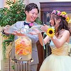 アニヴェルセル 江坂:ゲスト参加型のフルーツカクテル作りで賑やかに。ガーデンでのデザートビュッフェで、みんなで味わった