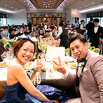 KKRホテル大阪:絶景と美食でおもてなしする上質な披露宴。会場コーディネートからコースの内容まで、ふたりらしい色に