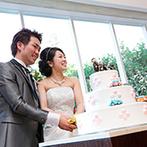 ハイアット リージェンシー 大阪:こだわりの料理は、さすがのホテルクオリティ!新婦がデザインしたウエディングケーキの仕上がりにも大満足