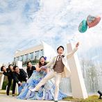 Geo World VIP(ジオ・ワールド ビップ):ガーデンが広がる開放的なウエディングステージ。何ごとも楽しんで取り組むスタッフの姿に惹かれた