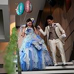Geo World VIP(ジオ・ワールド ビップ):お姫様気分で大階段から入場!ゲストへのサプライズなど、笑顔が絶えないアットホームな時間を過ごした