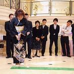 ハミングプラザVIP新潟:ふたりの希望の演出「ゴルフ大会」でワイワイと盛り上がった!ゴルフ場をイメージしたケーキも大好評