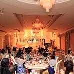 ハミングプラザVIP新潟:宮殿をテーマにしたヨーロピアンスタイルで優雅なパーティ。豪華食材をふんだんに盛り込んだ料理が大好評