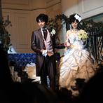 ハミングプラザVIP新潟:白亜の空間に映えるモダンな現代風和装、ウエディング&カラードレス。多彩な入場シーンでゲストを魅了した